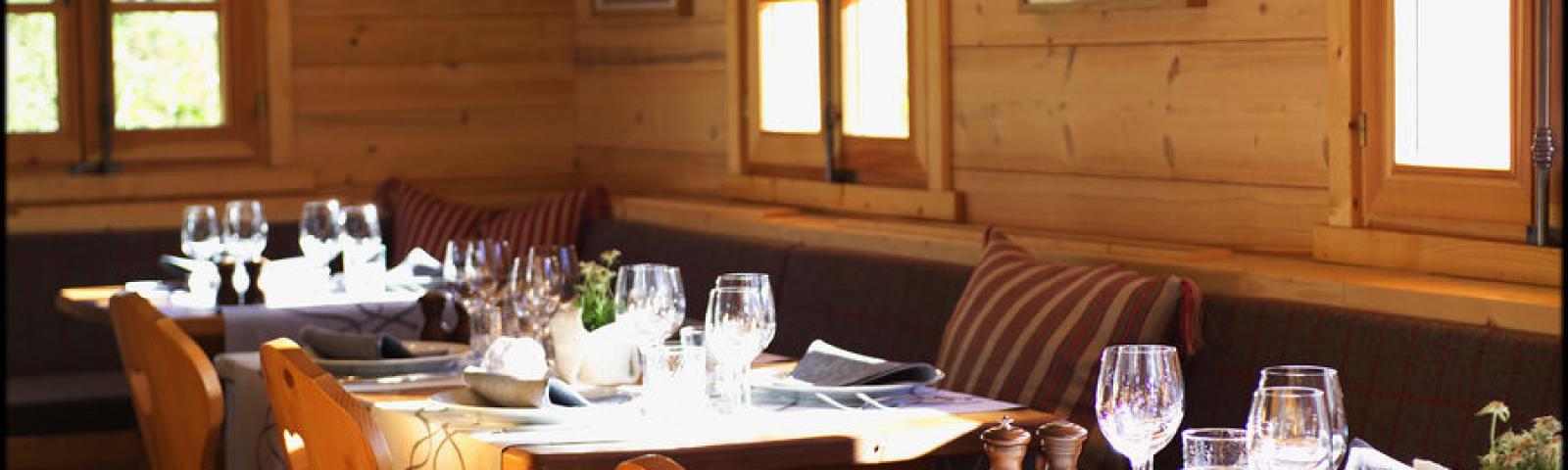Restaurant gastronomique de la ferme du chozal à Hauteluce