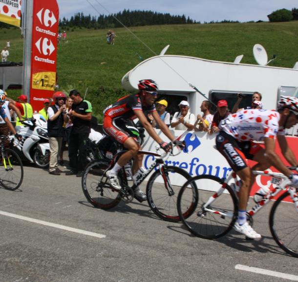 Passage du Tour de France au col des Saisies