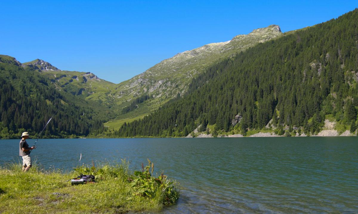 Pêche sur la commune d'Hauteluce