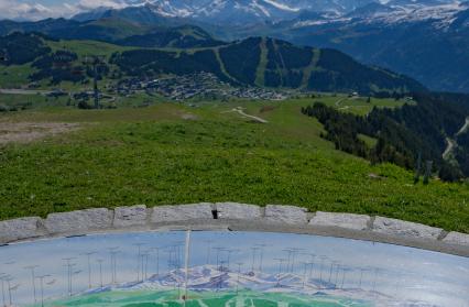 Magnifique point de vue sur les Alpes depuis le sommet de Bisanne