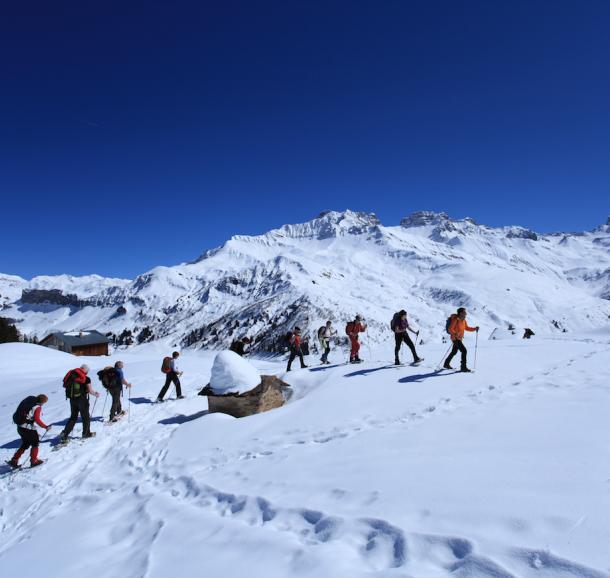 Randonnée raquettes hiver Beaufortain Randonnée
