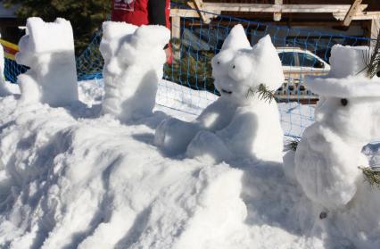 concours de sculpture sur neige