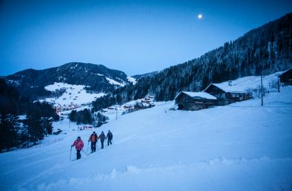 Initiation ski de randonnée nocturne