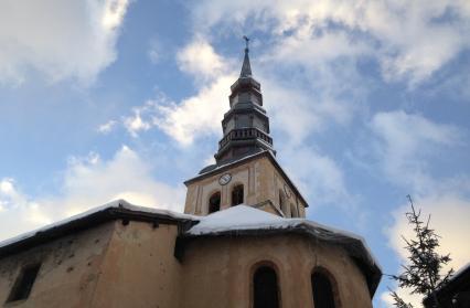Hauteluce, église baroque rénovée