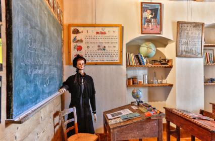 Salle de classe et certificat d'étude