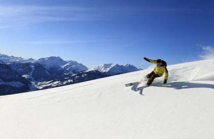 ski alpin sur l'Espace Diamant