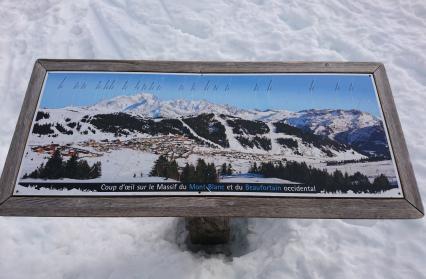 Table d'orientation avec vue sur le Mont-Blanc