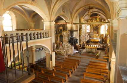 Intérieur de l'église d'Hauteluce
