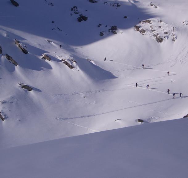 Ski de randonnée dans le Beaufortain avec Yves Olbrecht
