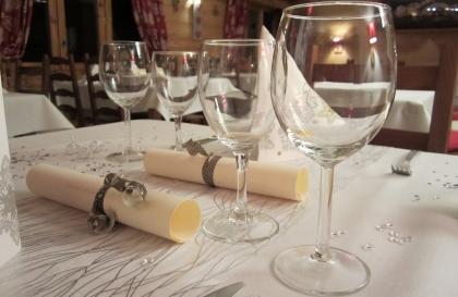 Table du restaurant Le Caribou aux Saisies