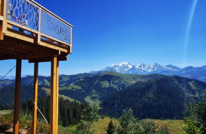 le balcon sur le Mont Blanc