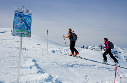 Découverte du ski de randonnée avec 'la trace'