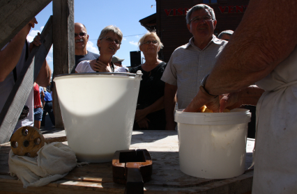Fabrication artisanale du Beurre de Baratte