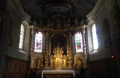 Hauteluce, église baroque renovée
