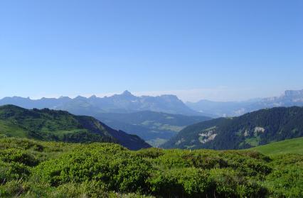 Vue sur la Haute Savoie