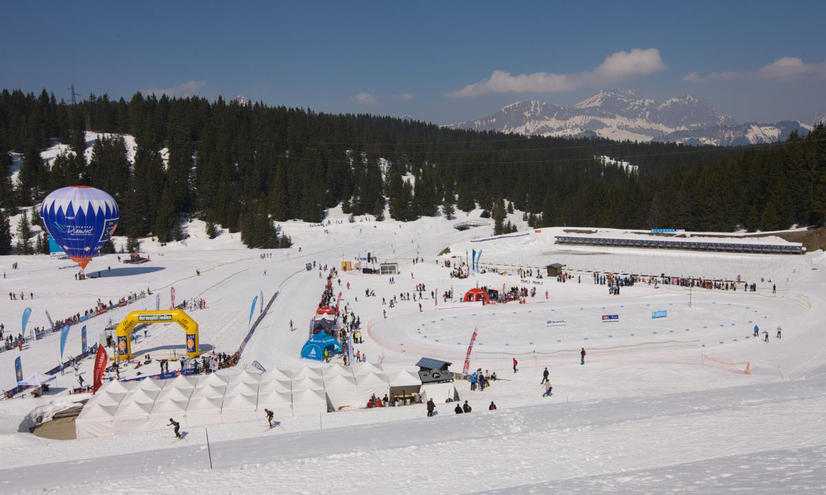 Stade de biathlon durant les championnats de France