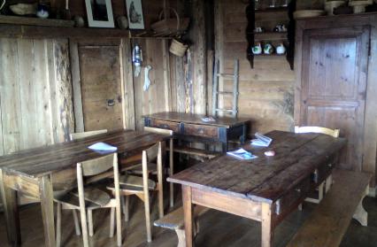 Salle de restaurant du refuge