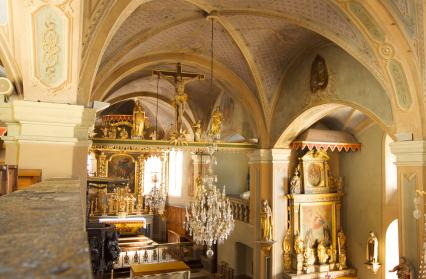 Coeur de l'église de Hauteluce
