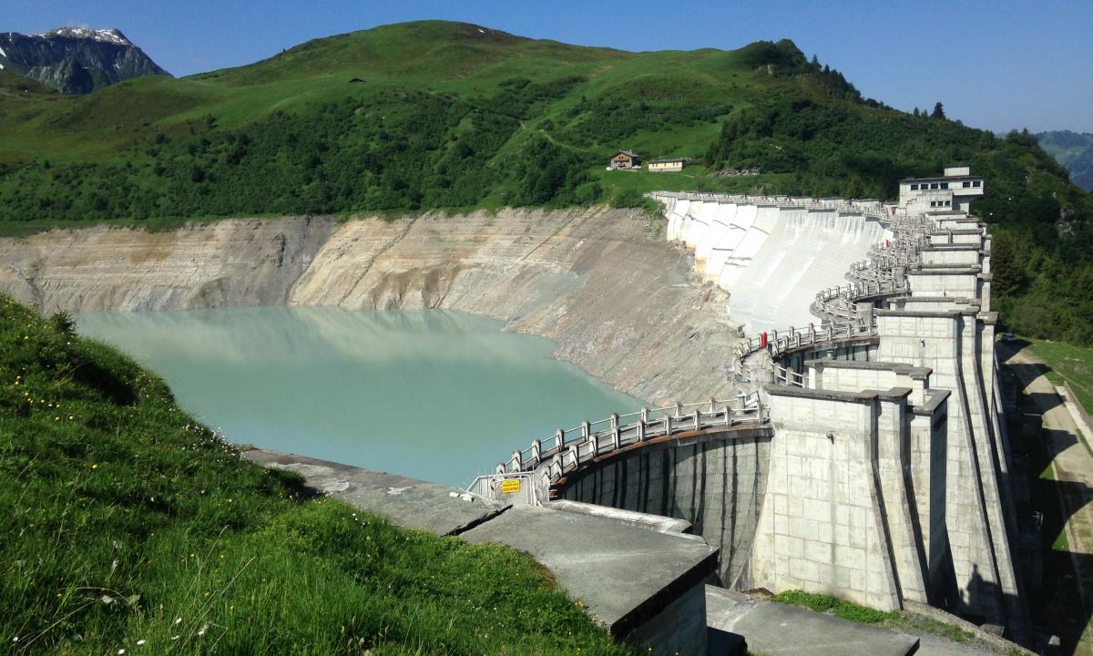 Hauteluce, barrage de la Girotte