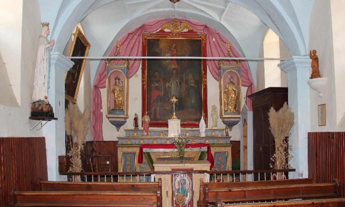 Intérieur de la chapelle du Bersend