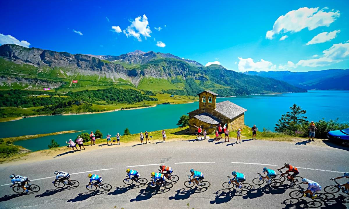 Passage du Tour de France au Cormet de Roselend