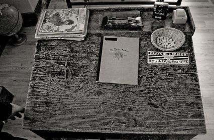 Vieux bureau d'écolier