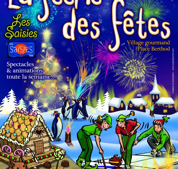 la féérie des fêtes des Saisies