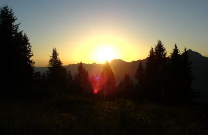 Coucher de soleil sur le Charvin