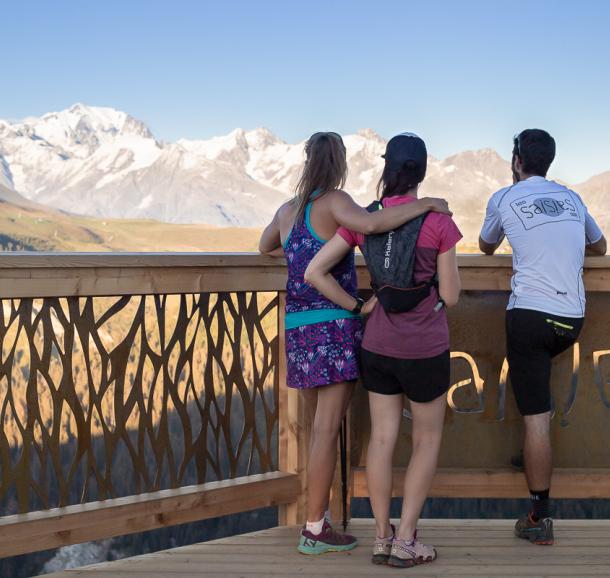 Balcon sur le Mont-Blanc aux Saisies