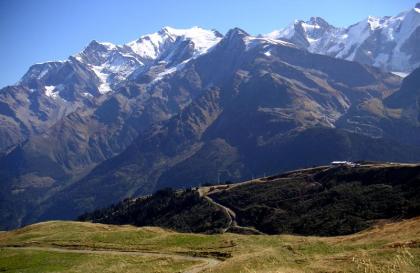 Le col du Joly vue sur le Mont Blanc