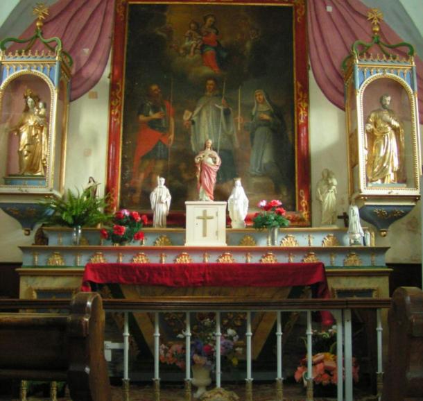 Intérieur Chapelle du Bersend